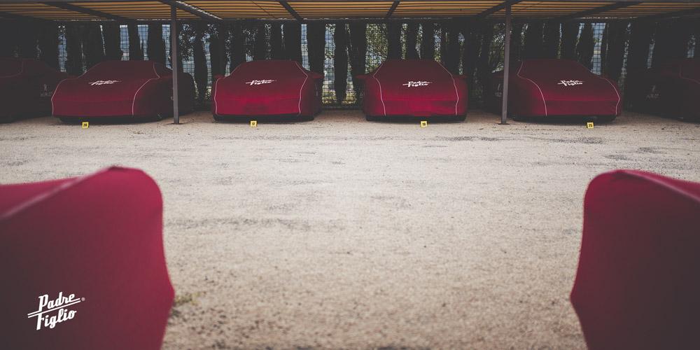 Housses Ferrari pour le Rallye Padre Figlio